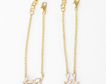 Big and Little Sister Bracelet Set (Gold)