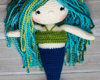 Crochet Mermaid Pattern| Mermaid Doll| Crochet Doll Pattern| Amigurumi Doll Pattern| Mermaid| Girls Gift