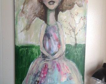 CARRYING JOY original acrylic on canvas 24x36