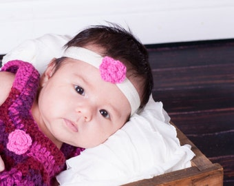 Baby Headband- Pink Flower