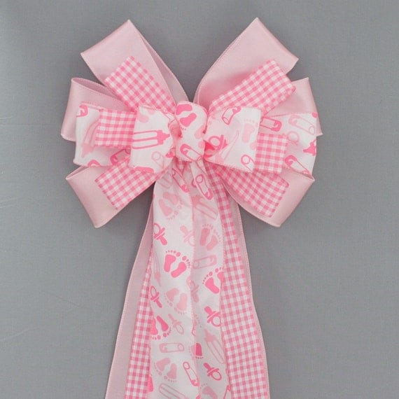 pink baby feet girl baby shower bow by package perfect bows catch my
