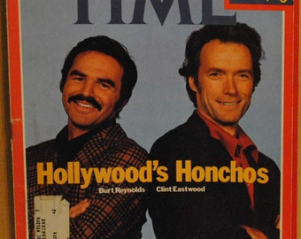 Clint Eastwood, Burt Reynolds Movie Star Hollywood Honchos Jan. 9, 1978 Time Magazine