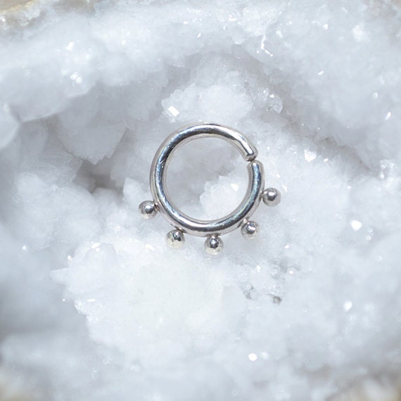 Nipple Ring 14g - Silver Septum Piercing - Septum Ring - Nipple Piercing - Nipple Jewelry 14g - Septum Jewelry - Body Piercing
