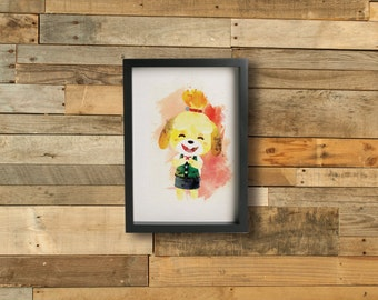 NEW! ISABELLE poster - Inspired by the Animal Crossing Series  Fine art Giclée print.