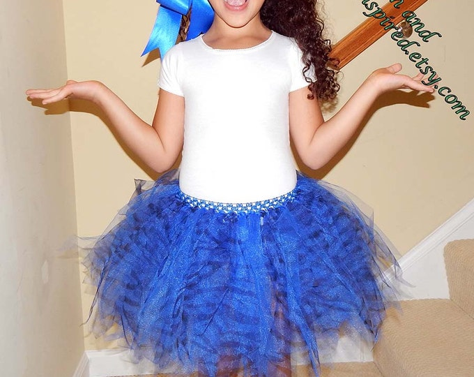 Blue Zebra Safari Tutu Skirt