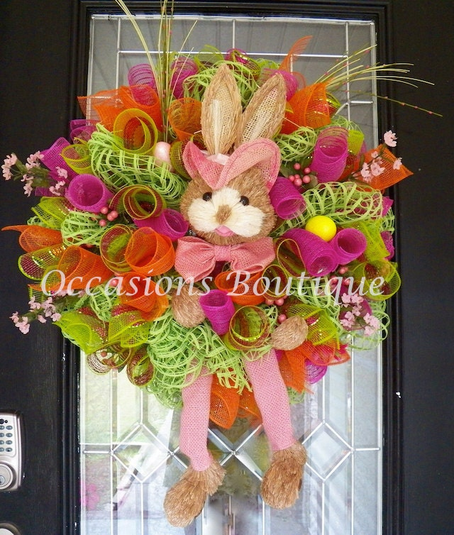 easter wreath easter decoration front door wreaths door