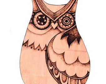Owl Wall Hanging with Pyrography (Wood burning), Owl Wall art, wood carving, pyrography owl art, plaque, Owl decor, Owl wall hanging, uk