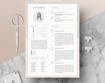 modern resume template cover letter icon set for microsoft word 4 page pack - Professional Resume Templates Microsoft Word
