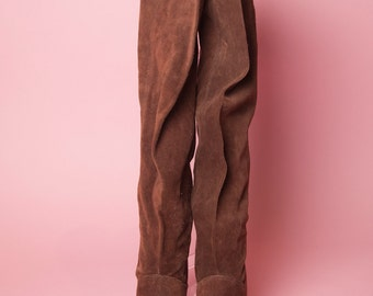1970's Zodiac Suede Over the Knee Boots