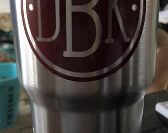 Vinyl Decal- Car Decal- Yeti Decal- Decal- Monogram Decal