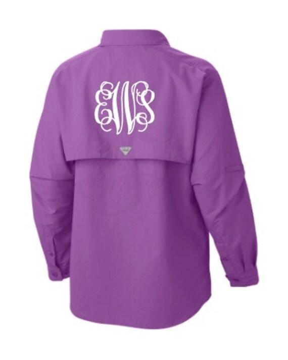 Monogrammed Ladies Columbia Pfg Fishing Shirt By