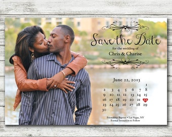 Save-the-Date Calendar Magnet or Card