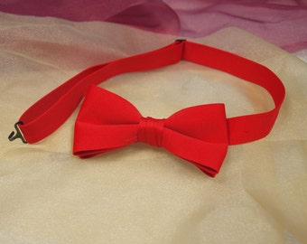 Bowtie, Tuxedo, red, pre-tied, vintage, v2, neck band,