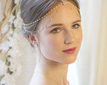 H225-G Bohemian Wedding Hair Accessory, Bridal Headpiece, Bohemian Wedding Headpiece, Bohemian Headpiece, Wedding Headpiece, Bridal Hair