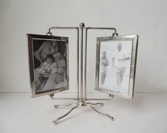 Standing Rotating Double Picture Frame