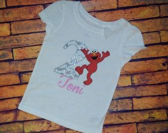 Elmo Birthday Shirt-Girls
