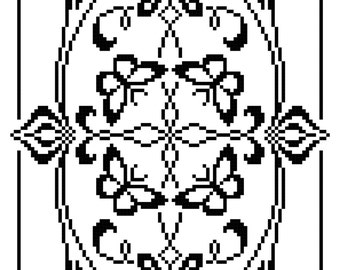 Cleome and Butterflies Table Runner: Wings and Leaves in Filet Crochet