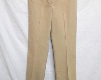 AbouT ToWn / St. John Sport by Marie Gray Stretch KHAKI PANTS... dress pants...Beige Trousers..Career Slacks..Cotton blend ladies slacks