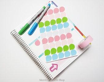 Dew Drops Sticker Sheet : Spring Fling Theme Planner Stickers