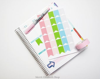 Page Flags Sticker Sheet : Spring Fling Theme Planner Stickers