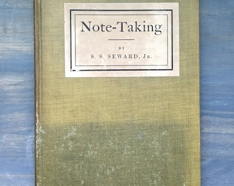 Antique Note-Taking Book 1910 by S.S. Seward, Jr.