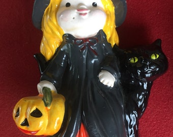 Vintage Halloween witch ceramic figurine by RB Japan