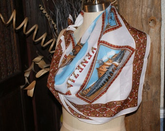 Beautiful Vintage Souvenir Scarf From Venice