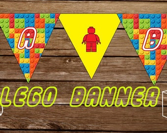 LEGO Party Banner - CUSTOMIZED - Print At Home