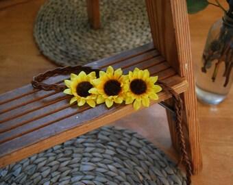 Sunflower Accent Crown