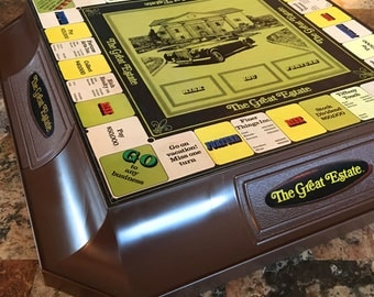 "Rare 1974 Hasbro ""The Great Estate"" large game board featuring Jerry Lewis"