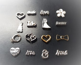 Wedding Floating Charm for Floating Lockets-Great Gift Idea