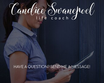 SALE Life Coach Logo Cursive, Calligraphy Branding, Consultant Logo Design Professional Branding, Life Coach Branding, Candice Logo