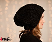 the DUBLIN hat...Vegan knit hat, hand knit, chunky knit, knit toque, knit beanie, knit hat, vegan knit, vegan gift.