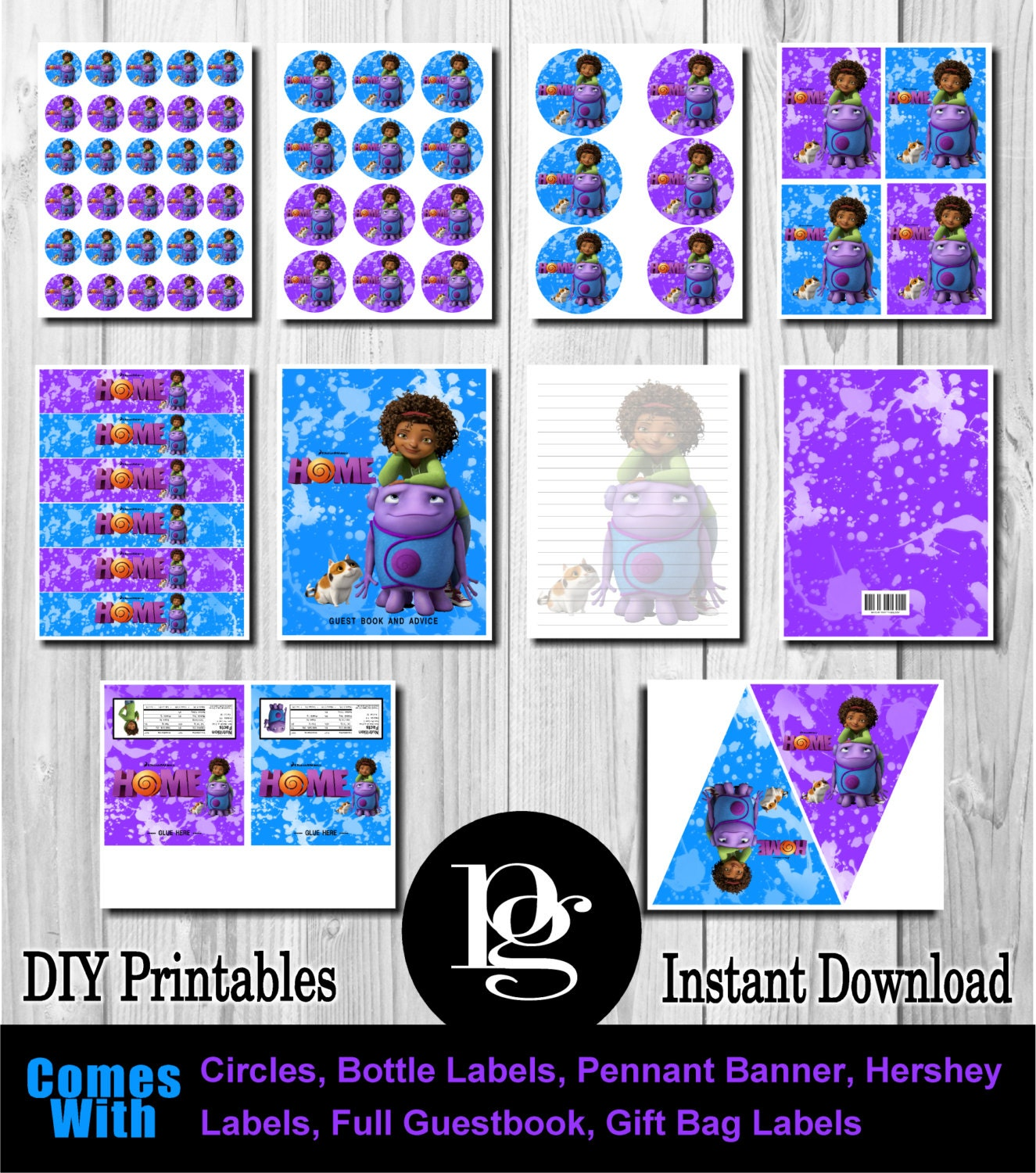 Dreamworks Home Dreamworks Home Party by PlatinumGraphics
