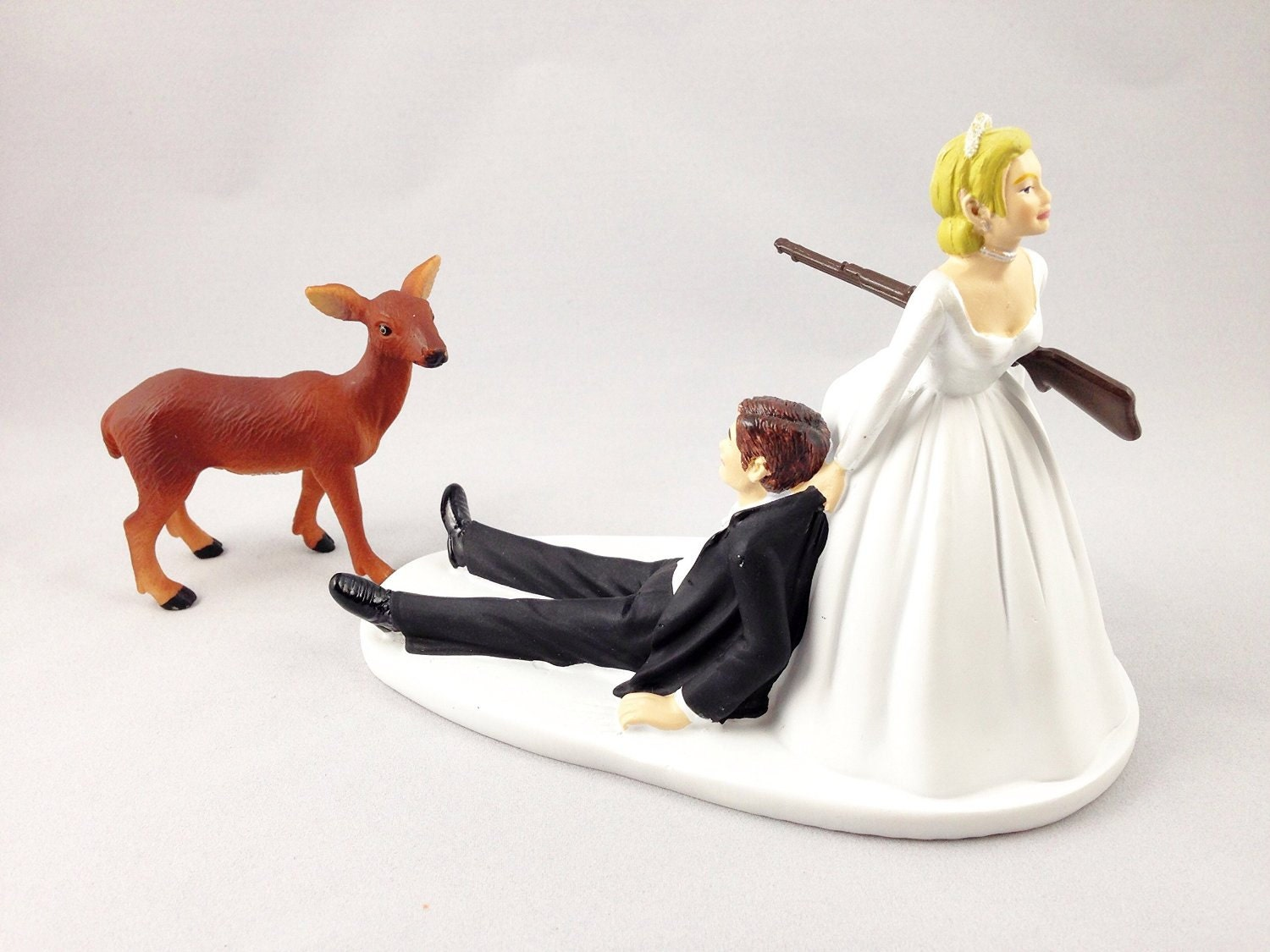 Funny Hunting Wedding Cake Topper Deer Hunting Groom Being