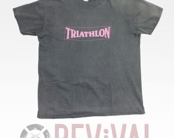 Vintage Faded Triathlon T Shirt ~ L-XL