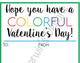 Crayon Valentine's Day Card Template
