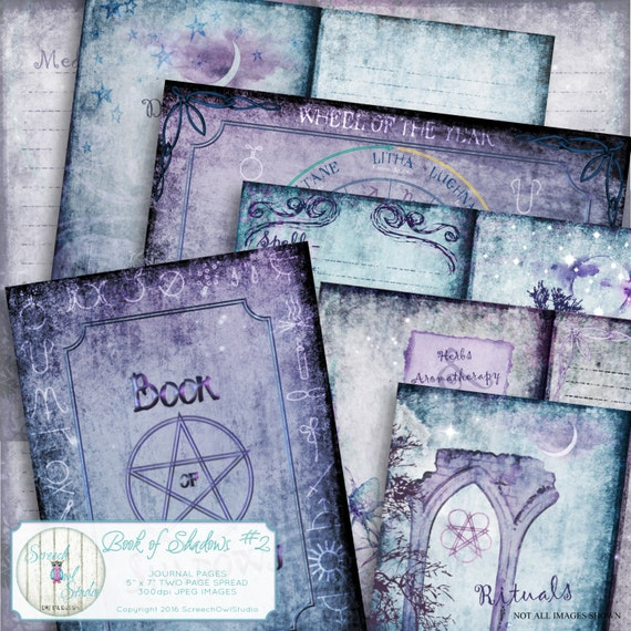 Book of Shadows Grimoire Journal Pages Wheel by ...