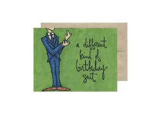 A Different Kind of Birthday Suit - Card Blank Inside