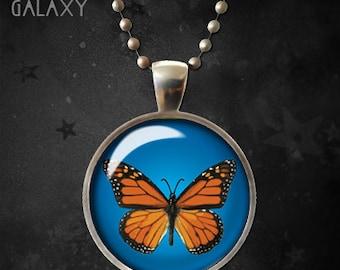 Monarch Butterfly Necklace, Butterfly Pendant