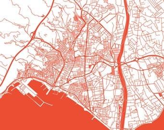Almeria Map - Roads - Almeria Print - City Map Art of Almeria, Spain