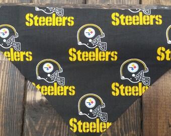 Steelers Dog Bandana   Football Bandana   Over the Collar
