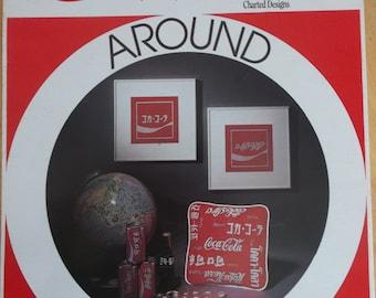 Coca-Cola Around the World Cross Stitch Pattern Leaflet 1984 Seven Languages Graph Menagerie