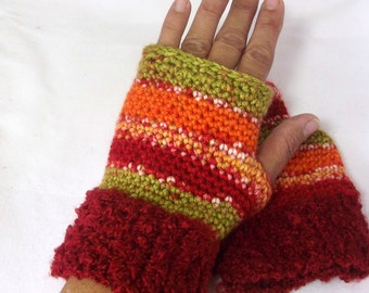 Fingerless Gloves - Winter Gloves - Hand Warmers - Open Finger Glove - Wrist Warmers -  Fall Gloves - Acrylic Gloves - Finglerless Mittens -