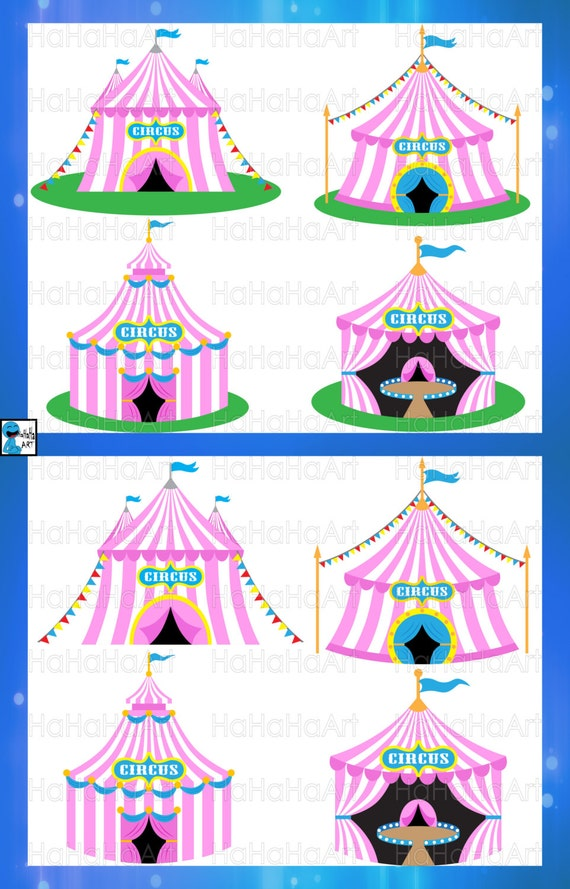 Circus Pink Tent Cutting Files Svg Png Jpg Eps Digital