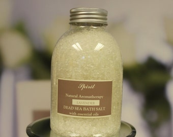 Organic Lavender Bath Salt - Dead Sea Salt - Aromatherapy Sea Salt - Essential Oils