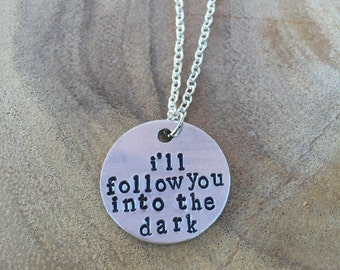 Death Cab For Cutie Lyrics Hand Stamped Necklace