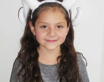 Ram horns - Ram horns headband - Ram horns headpiece - Fawn horns - Fawn headband
