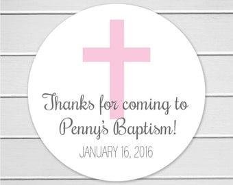 Baptism Stickers, First Communion Stickers, Christening Stickers (#283)