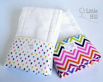 2-pack Premium Burp Cloths, Spit-up Stopper Pocket, Baby Shower Gift, Breastfeeding Gift, Great for Nursing Moms, Nursing Accessory